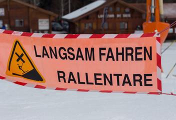 Fin de piste de ski