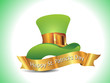 t st patrick hat with golden ribbon