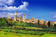 view of  San Gimignano - medieval town of Toscana, Italy