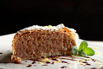 Piece of nut/apple cake