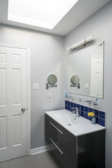 Newly Renovated Bathroom with a Skylight