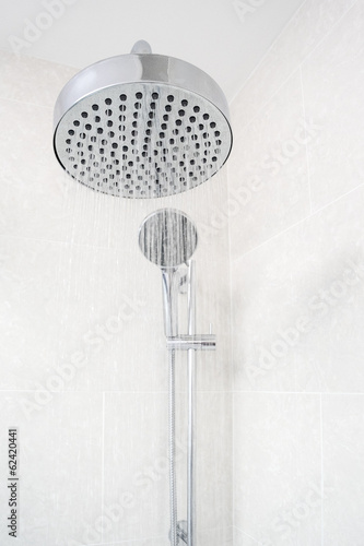 Rain Shower Head With Running Water