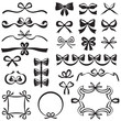 Bow design element set - 62420650