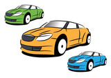 The vector picture of sport car