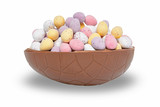 Easter egg chocolate cup isolated