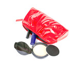The Red Female Beautician, Handbag with Cosmetics