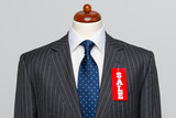 Front view Grey pinstripe suit Sale