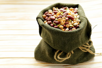 Assortment of different types of beans