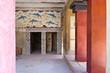 Details of Knossos palace near Heraklion, island of Crete