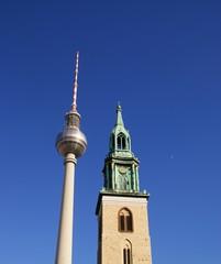 Berlin, Alexanderplatz, Marienkirche, Telespargel, Deutschland