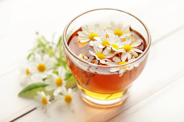 herbal chamomile tea