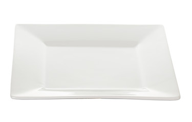 Plate, dish white isolated