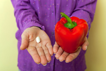 Healthy choice- medicine or red pepper