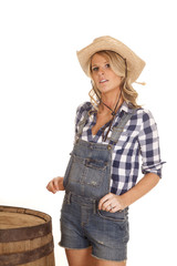cowgirl overalls stand by barrel