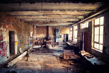 Industrial Interior of an old abandoned building