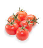 Several ripe cherry tomatoes isolated