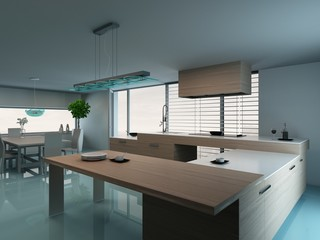 Luxurious modern kitchen interior