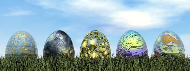 Easter eggs - 3D render