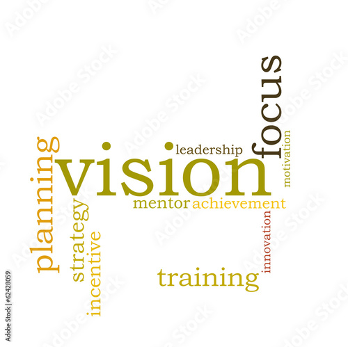Vision word cloud
