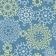 vector yellow gray abstract mandalas seamless pattern background