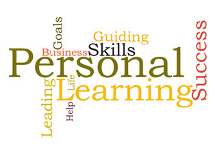 Personal learning word cloud