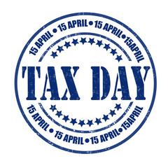 Tax day stamp