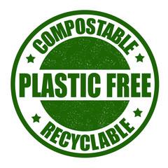 Plastic free stamp