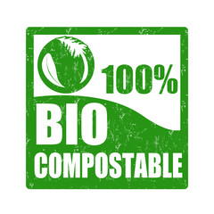 Bio compostable stamp