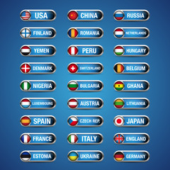 World flags set vector
