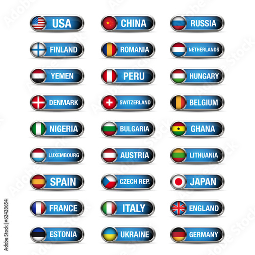 World flags set vector