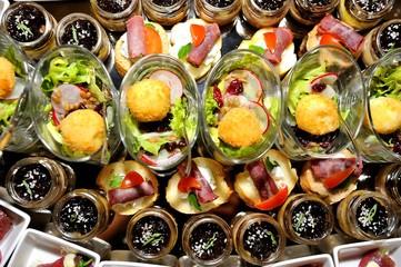 Finger food arrangement - food catering