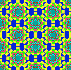 Gear colorful pattern