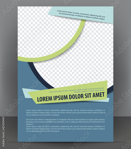 Vector brochure, flyer, magazine and cover empty template