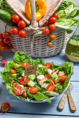 Eat healthy fresh salad