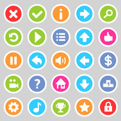 Flat game icons 8