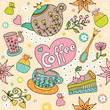 Cute seamless pattern with sweets.