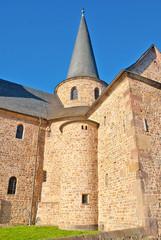 Detailansicht der Michaelskirche in Fulda