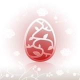 Happy Easter egg ornate background