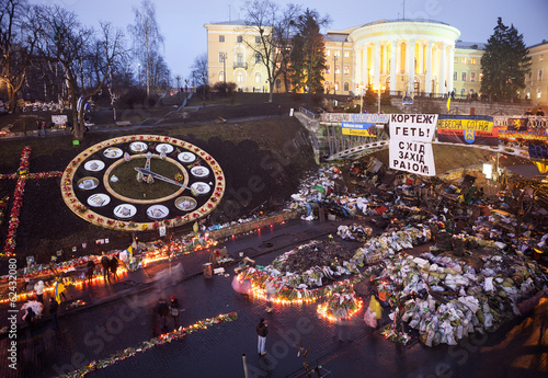 National mourning for killed defenders of Maidan, Kyiv, Ukraine