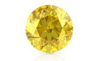 yellow sapphire on white background (high resolution 3D image)