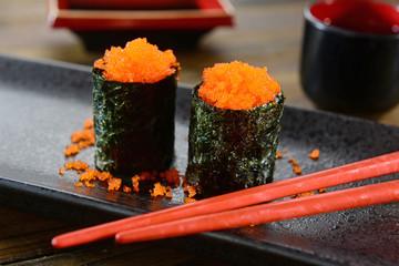 Ikura gunkan-maki - Sushi - Japanese food