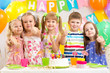kids preschoolers celebrating birthday party
