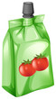 Постер, плакат: A tomato juice in a drinking pouch