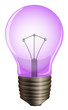 A purple light bulb