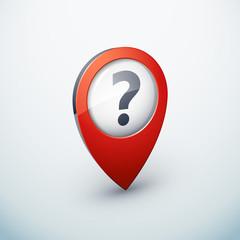 icône épingle punaise marqueur carte question