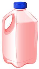 A gallon of strawberry milk
