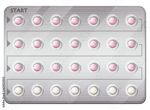 A pack of birth control pills