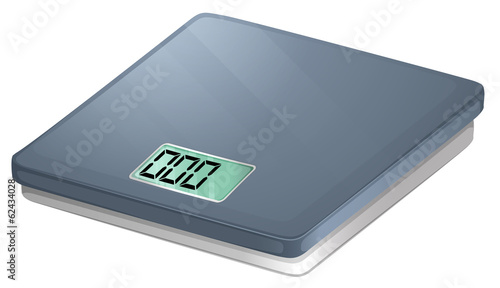 A bathroom electronic scale