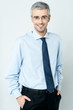 Smiling mature businessman