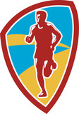 Marathon Runner Shield Retro